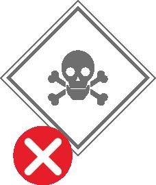 Азбест; вогненебезпечні, легкозаймисті та вибухові речовини, радіоактивні речовини й інші небезпечні відправлення з відповідним маркуванням
