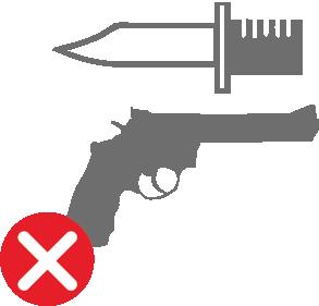 Вогнепальна зброя та її частини, боєприпаси, холодна зброя й інші предмети спеціально призначені для нападу та оборони